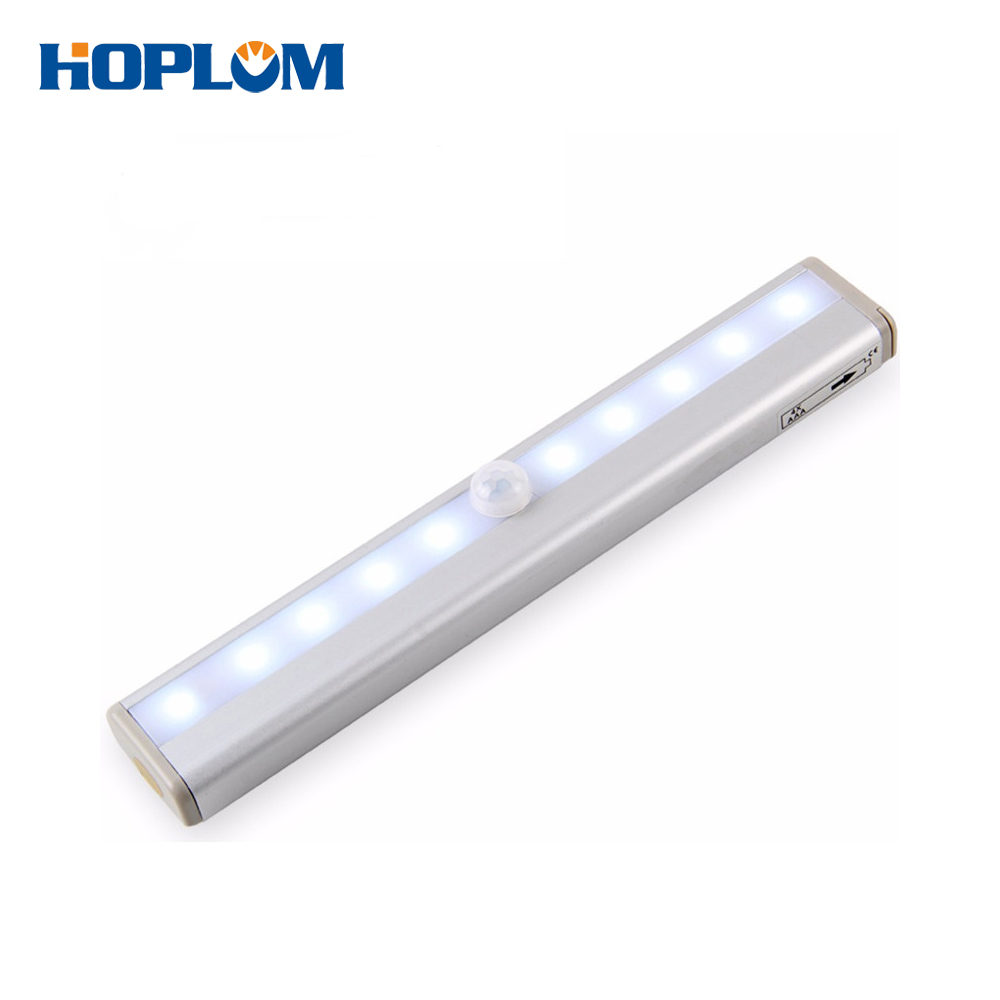 10 LED Motion Sensor Wireless Battery Closet Lamp Cabinet Night Light Bar