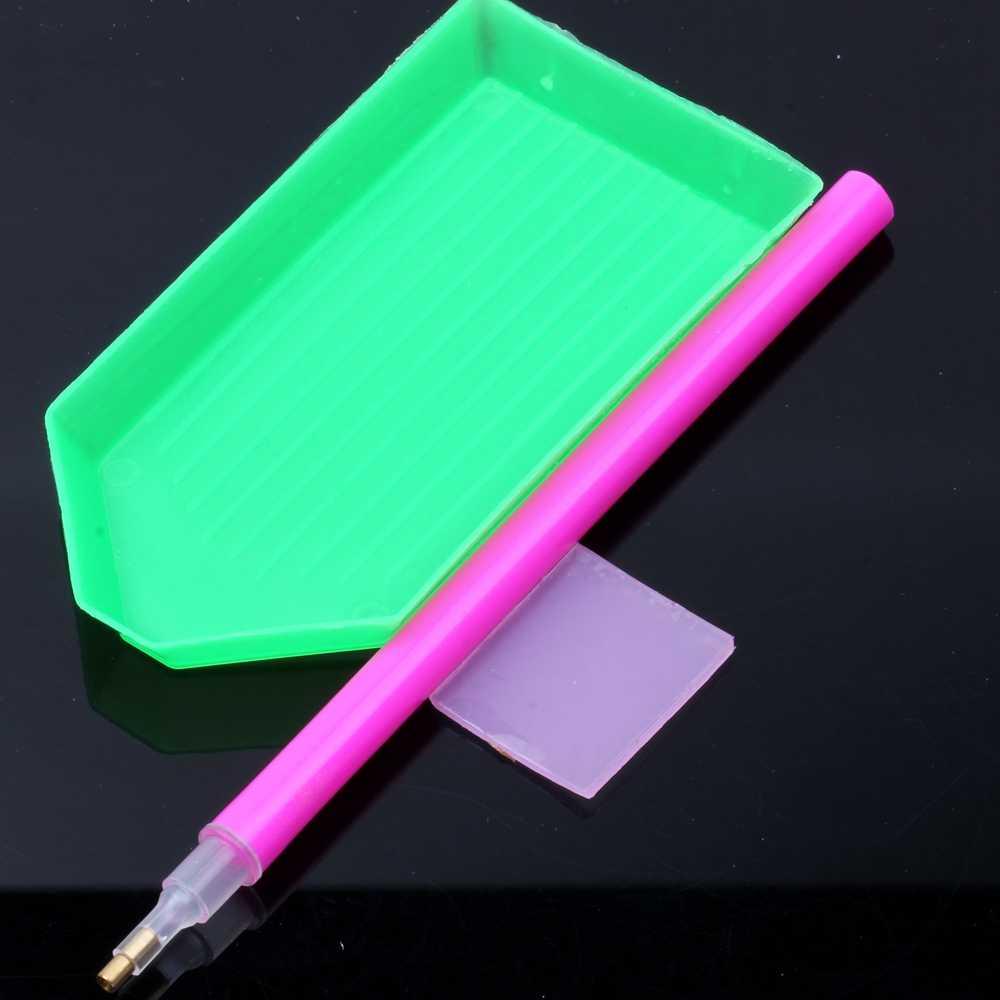 ฉีกขาด Flatback 7 คริลิค Rhinestones คริสตัล AB กลับเล็บ Rhinestone 3D Nail Art ตกแต่ง DIY เครื่องมือ