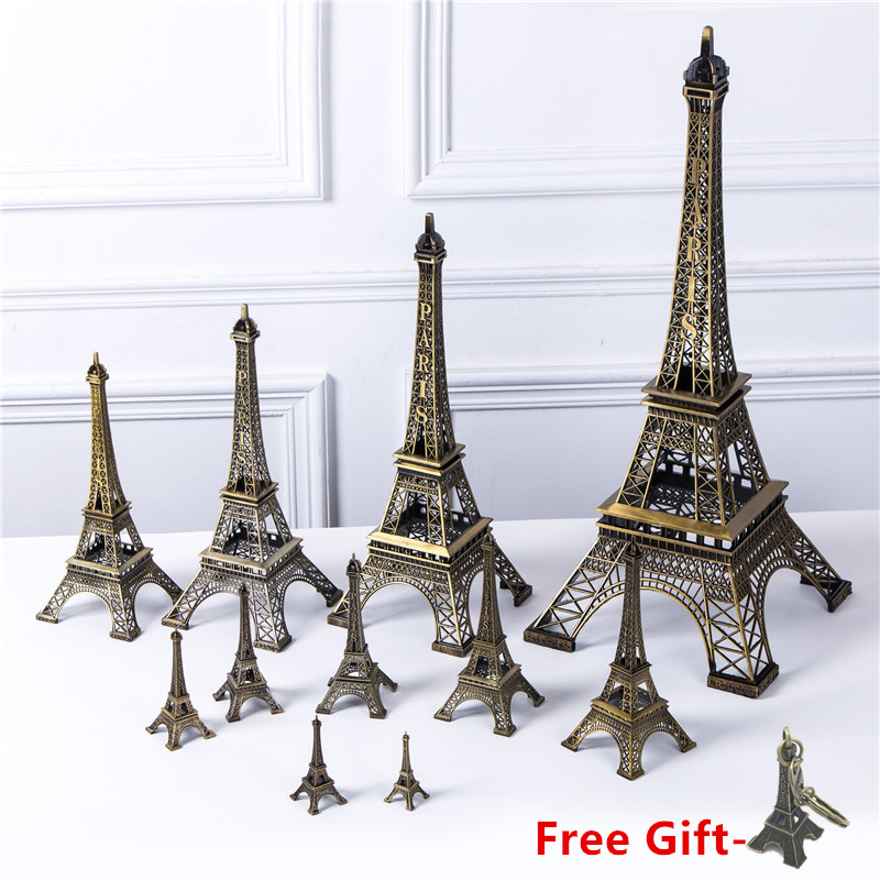 Bronze Eiffel Tower Decor zinc alloy Metal Home Decoration Improvement Gift