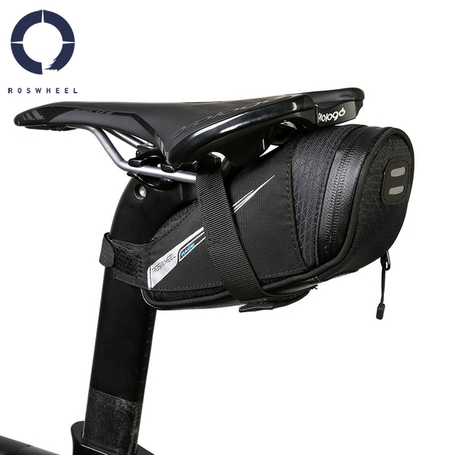 Mountain Road Cycling Bike Bicycle Strap-on Rear Seat Saddle Bag Tail Bag Pouch Pannier Sack