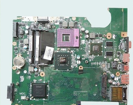 Laptop Motherboard FOR HP Compaq Presario CQ61 <font><b>Intel</b></font> PM45 Chipset 517837-001 DAOOP6MB6D0 60 Days Warranty image