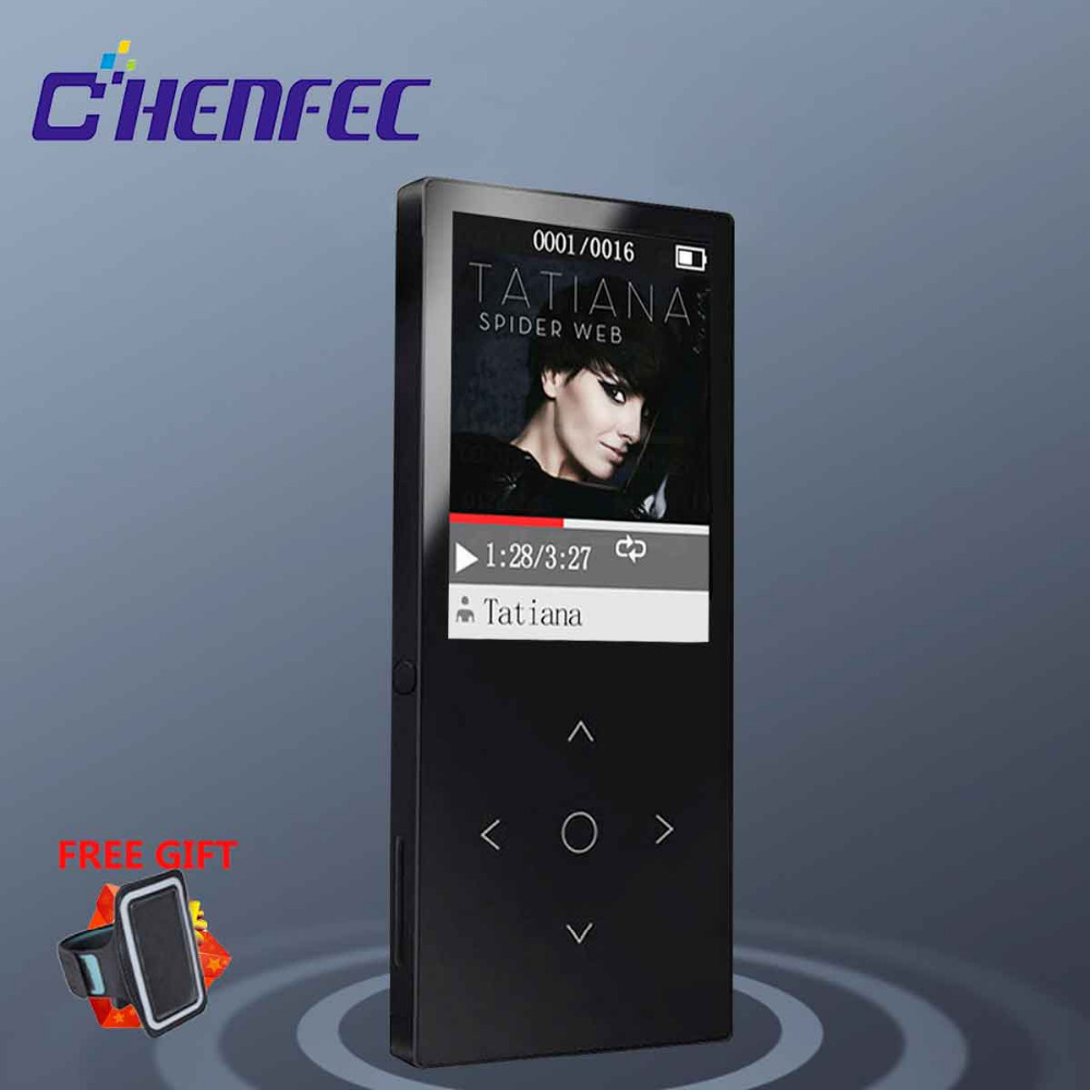 Hifi-player Original Mp3 Player Mit Bluetooth 16 Gb Metall Touch Schlüssel Taste 1,8 Zoll Bildschirm Musik Player Für Walkman Sport Lauf C8 Feines Handwerk