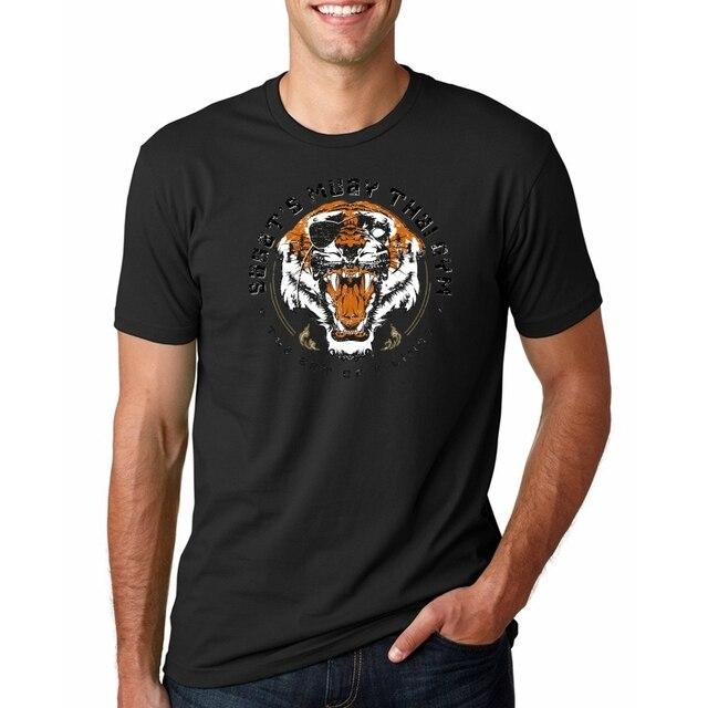 夏 2019 ヒップホップ Tシャツストリートおかしい虎 Tシャツ男性半袖 Tシャツ中国の文字プリントコットン Tシャツ原宿