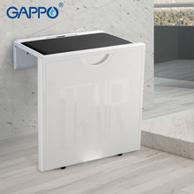 Gappo Wall Mounted Shower Seats alumimum alloy disabled elderly bath shower seat bathroom chair seat stool bench(China)