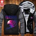 Fairy Tail Hoodies Men 2016 Warm Liner Sweatshirt Men Fairy Tail Sweatshirt Galaxy Printed Jacket Free Shipping