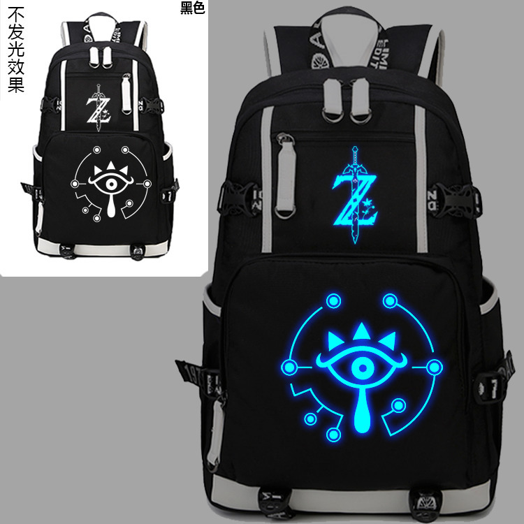 New The Legend of Zelda Luminous Backpack Cosplay Breath of the wild Eye Student Schoolbag Unisex Travel Shoulder Laptop Bags 2