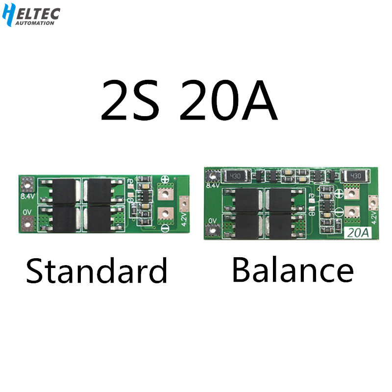 2S 20A  7.4V 8.4V  18650 Lithium battery protection board/BMS board standard/balance title=