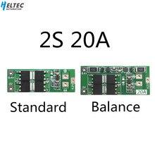 Placa de proteção de bateria de lítio 2s 20a 7.4v 8.4v 18650/placa bms