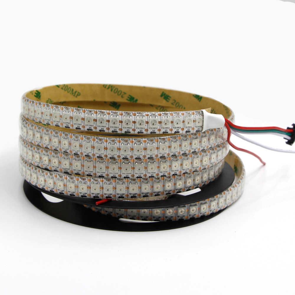 WS2812B Smart LED pikseli pasek światła WS2812 IC 5 V czarny/biały PCB indywidualnie adresowane IP30/IP65/ IP67 wodoodporna RGB lampa