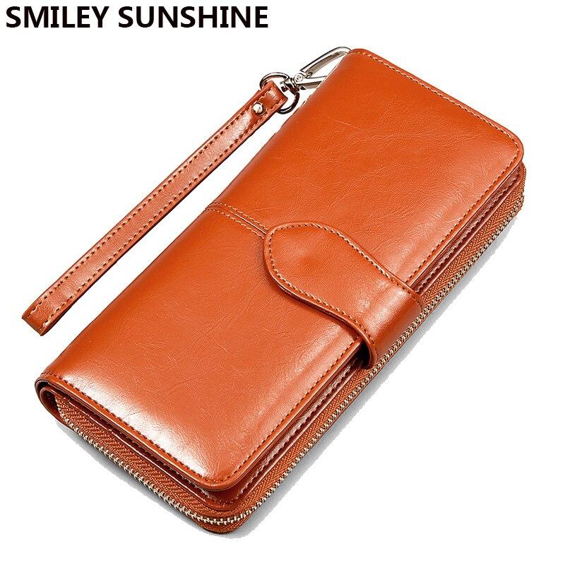 2017 Fashion Women Leather Wallets Lady Clutch Bag Female ...