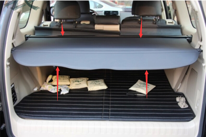 High Quality Black Car Rear Trunk Cargo shield Cover For Toyota Land Cruiser Prado FJ150 2010 2011 2012 2013 все цены