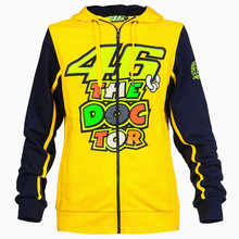 2016 Valentino Rossi VR46 The Doctor Moto GP Hoodie Yellow Men's Racing Sweatshirts