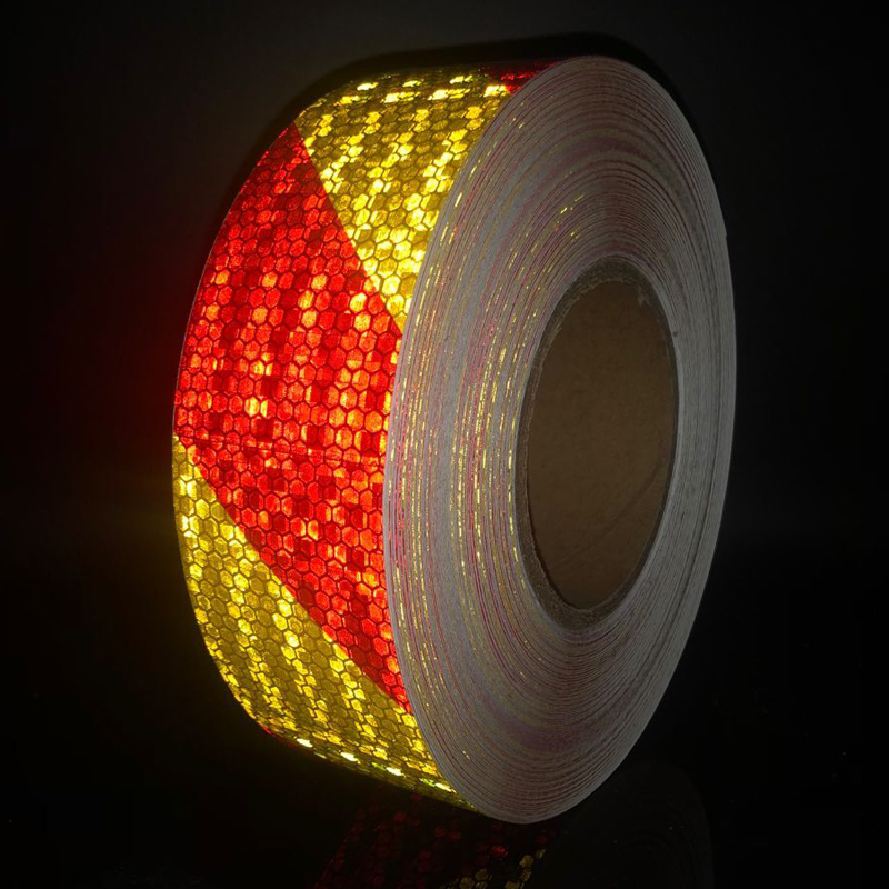 50mm width Car Reflective Material Tape Sticker Automobile Motorcycles Safety Warning Tape Reflective Film Car Stickers in Reflective Material from Security Protection