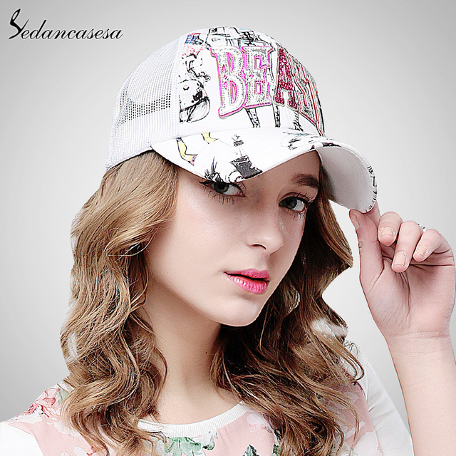 830d1c358c0 Sedancasesa baseball cap Sun hat Korean leisure summer Trucker cap for women  men casquette hip-hop cool sun protect WG160056