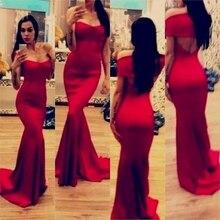 Neue Ankunft Einfache Und Elegante Meerjungfrau Schatz Red Abendkleid Lange Satin Abendkleid Benutzerdefinierte vestido de festa gala jurken