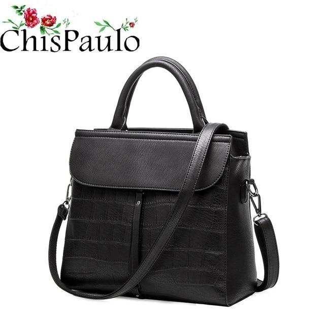 cfb76cf49d8 CHISPAULO Luxo Famosa Marca Designer Bolsas de Alta Qualidade Das Mulheres  Da Forma Genuína Bolsas De