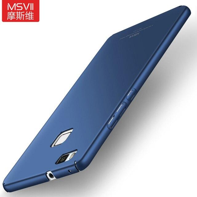 """Ban đầu MSVII Cho Huawei P9 Lite Trường Hợp Cứng Frosted PC Trở Lại Bìa 360 Bảo Vệ Đầy Đủ Nhà Ở Cho Huawei G9 Lite (5.2 """")"""