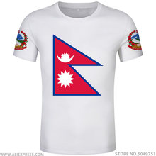NEPAL t-shirt logo gratis custom made naam nummer npl t-shirt natie vlag np republiek nepalese nepali college print foto kleding(China)