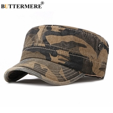 BUTTERMERE Spring Military Hat For Women Coffee Cotton Army Caps Navy Men Wash Camouflage Captain Female Classic Sailor