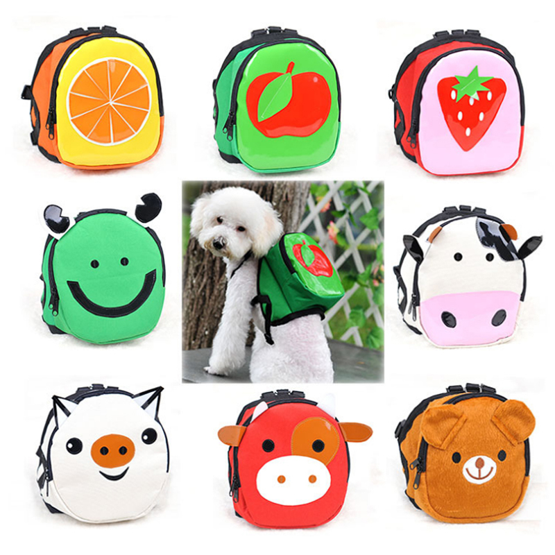 2017 New Canvas Cartoon Pattern Clothing Dogs Backpacks Soft Adjustable Puppy Teddy Pet Product Size S L