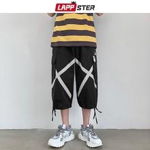 LAPPSTER Cross Cropped Harem Pants Men Streetwear Hip Hop 20