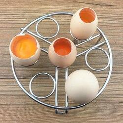السفينة حرة عالية الجودة البيض حامل المقاوم للصدأ أدوات أدوات المطبخ المنزلية البيض الوقوف 7 حفرة البيض