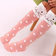 Cartoon Print Socks High Over the Knee Socks Sweet Cartoon Thigh Half Leg Cotton Girls Stockings Winter Warm Perfect Gifts(China)