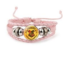 """Харри с магическим заклинанием из """"Гарри Поттера"""" камнем времени значок Плетения Бисером Кожаный фигурку браслет Косплэй игрушка Детский подарок"""
