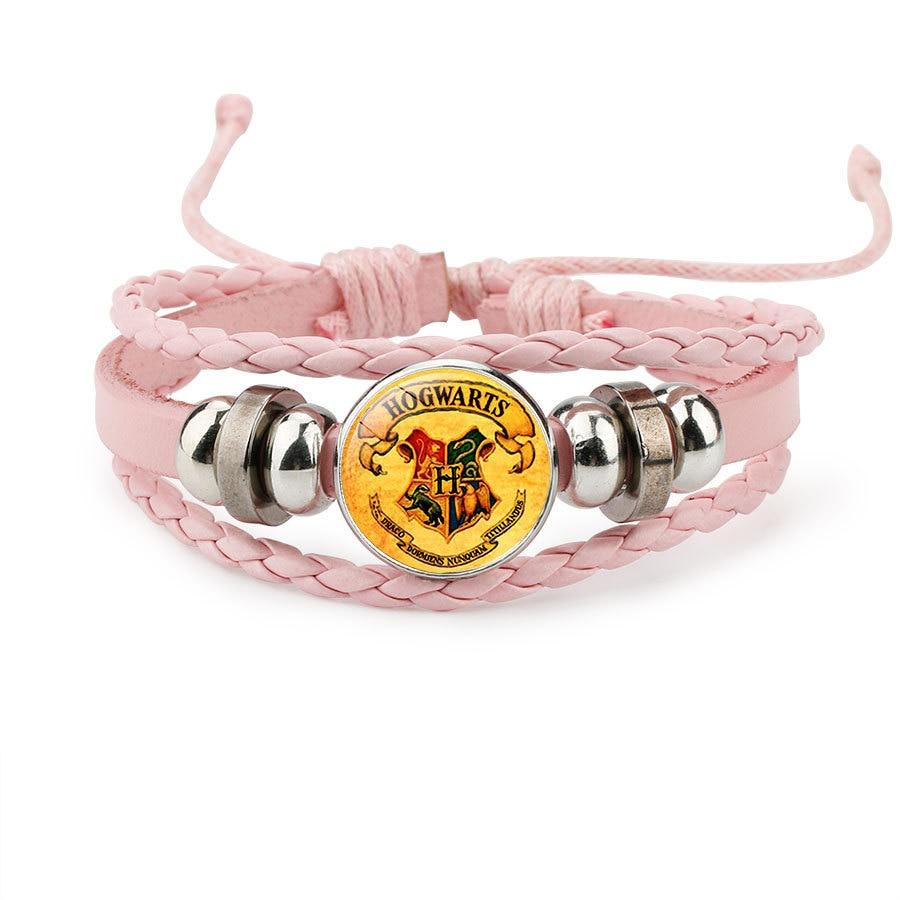Harri Potter Magic Spell Time Gem Badge Weave Beaded Leather Action Figure  Bracelet Cosplay Toy Children Gift