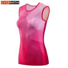 CYCEARTH 2018 Women Cycling Base Layer Jerseys Dry Mesh Sleeveless Clothing Road MTB Bike Underwear Outdoor Sports Shirt(China)