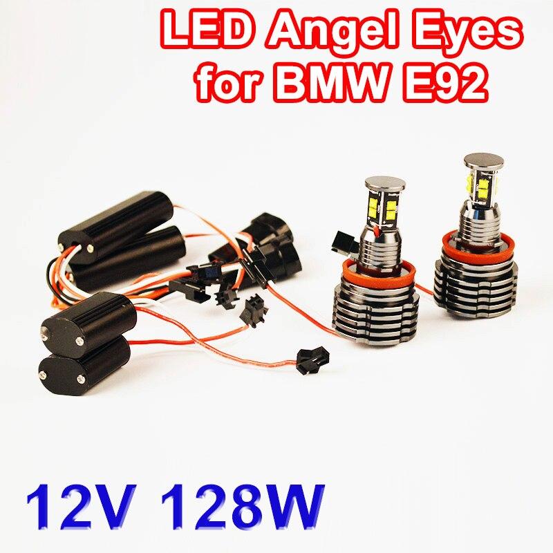 LED Marker 2*64W 128W H8 Angel Eyes CREE LED Chips 7000K 2 Pieces(1 Set) XENON White for BMW E90 E92 X6 E82 M3 E60 E70 X5 E71 80w h8 angel eyes led marker xenon white 7000k for bmw e90 e92 x5 e71 x6 e82 m3 e60 e70