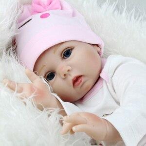 Image 3 - 16/22 אינץ סיליקון Reborn תינוק בובת 40cm בחיים Bebe Menina ממולא לשחק צעצועי Reborn בובות 55cm יום הולדת הפתעה מתנות