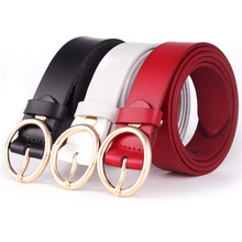 Luxury Brand Metal Round Buckles Belts Designer Cow Leather Shoes For Women High Quality Female Waist Womens Belt