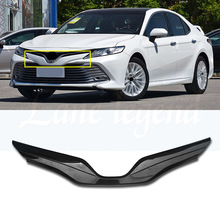 For Toyota Camry 2018 2019 Car Decoration Carbon Fiber Style Front Grille Cover Center Mesh Trim цена 2017