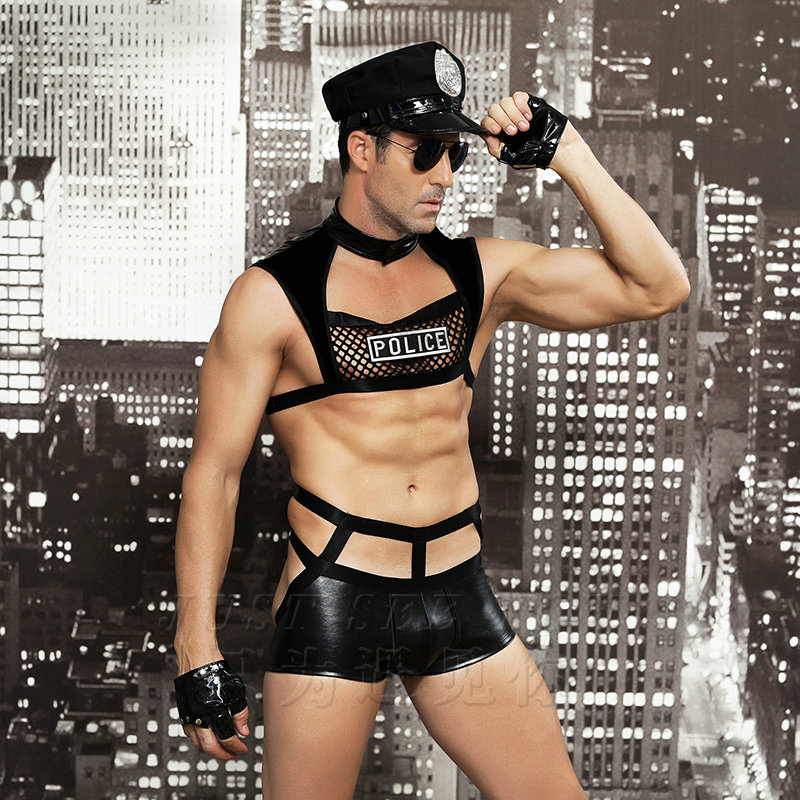Men Sexy Costumes Hot Erotic Sexy Police Officer Cosplay Costume Fancy Cops Dress Men Halloween Costume Police Uniforms 6603 in Sexy Costumes from Novelty Special Use
