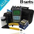 Envío libre 8 En 1 Kit de Herramienta de Fibra Óptica FTTH con FC-6S Fiber Cleaver y 2 en 1 Medidor de Potencia de Fibra Óptica