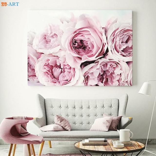 Nordic Style King Protea Peony Roses Print Flower Botanical Large ...
