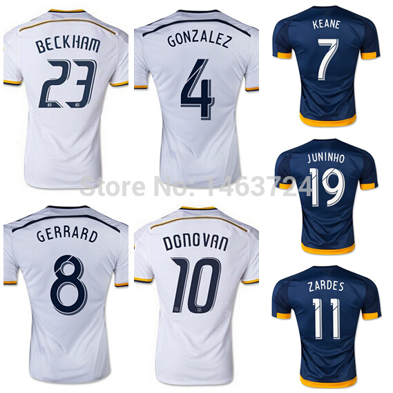 0fdcc3097 Top Thai version 15 16 Los Angeles Galaxy David Beckham jersey 8 Steven  Gerrard jersey Donovan Gonzalez Keane Juninho