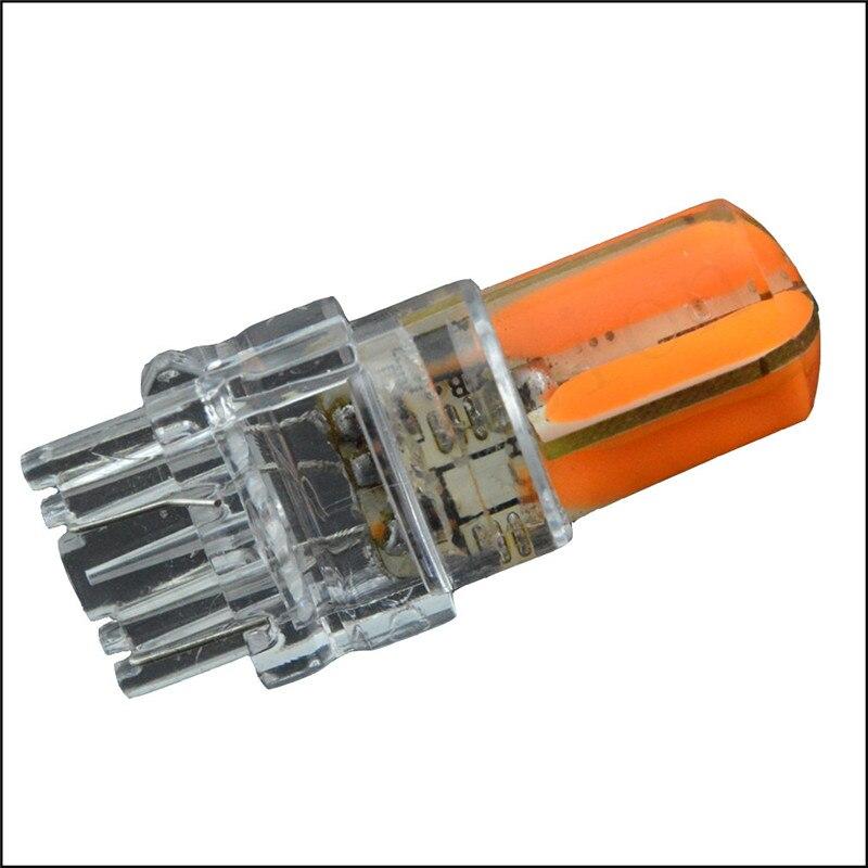 Ruiandsion 2pcs LED Car T25 led Bulb 3157 Tail Signal Brake Stop Reverse DRL Light COB 8W Silicone led Purple