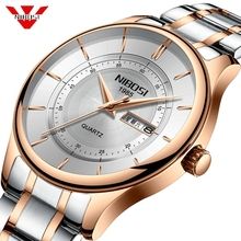 Nibosi למעלה מותג יוקרה Mens שעונים אופנה מקרית ספורט שעוני יד שבוע תאריך שעון צבא צבאי שעון גברים Relogio Masculino