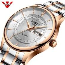 Nibosi лучший бренд класса люкс Для мужчин s часы модные спортивные наручные часы в стиле кэжуал дни недели и Дата Часы Армии Военные часы Для мужчин Relogio Masculino