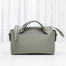 genuine leather women handbag small Rivets Boston bag New 2016 Fashion Simple Lady shoulder Crossbody bags Brands Clutch bags
