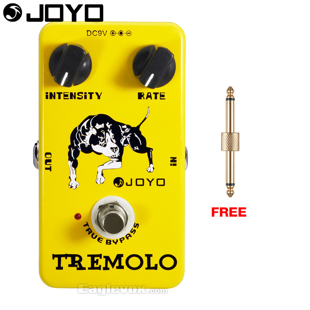 JOYO Tremolo Electric Guitar Effect Pedal True Bypass JF-09 with Free Connector mooer ensemble queen bass chorus effect pedal mini guitar effects true bypass with free connector and footswitch topper