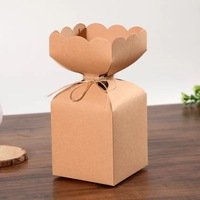 9cmX9cmX10cm Big Size Kraft Paper Candy Box Packaging Boxes Rustic Wedding Gift Box Wedding Favors And