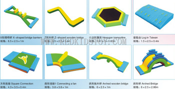 High Quality Water Amusement Park Best China Inflatable Water Games HZ-E003
