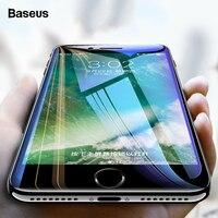 Baseus 0.3mm 화면 보호기 강화 유리 아이폰 7 8 플러스 유리 7D 소프트 곡선 전체 커버 보호 강화 유리 필름