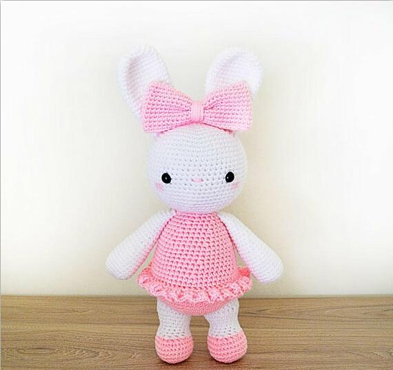 Crochet Toys Ballerina Bunny DOLL Rattle