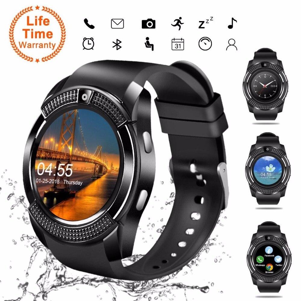 V8 SmartWatch Bluetooth Smartwatch Relógio de Pulso da Tela de Toque com Câmera/Slot Para Cartão SIM, à prova d' água Relógio Inteligente DZ09 X6 VS M2 A1
