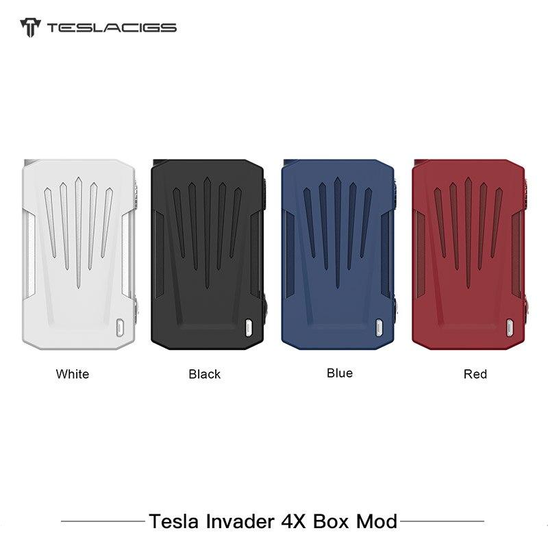 Nouvel Arrivlal Tesla Invader 4X VV boîte MOD 280 w double 18650 batterie vaporisateur tension réglable E-Cigarette Vaping Mod