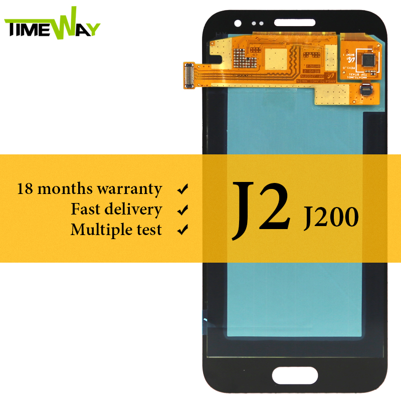 Für Samsung J2 2015 J200 J200Y <font><b>J200F</b></font> <font><b>LCD</b></font> Display AMOLED Bildschirm Mit Touch Digitizer Montage Für Samsung J2 2015 <font><b>LCD</b></font> image